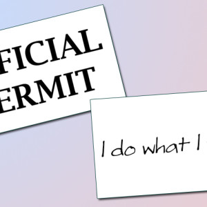 Official Permit: I Do What I Want