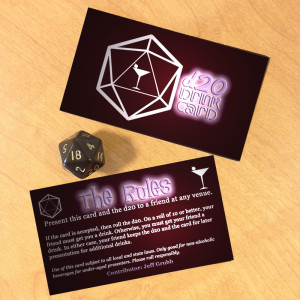d20 Drink Card